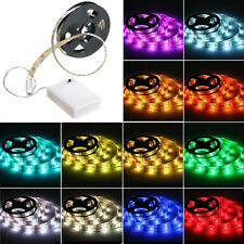 5050 RGB Led Flexible Strip with Battery Powered Box Waterproof 50-200CM 4.5V