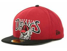 University of Georgia Bulldogs DAWGS 59Fifty New Era Fitted Hat Cap Dog Logo *W5