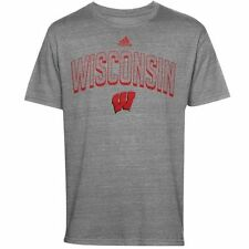 Wisconsin Badgers adidas Youth Tri-Blend Pickup Artist T-Shirt - Gray - College