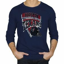 Junk Food Houston Texans Time Out Long Sleeve Thermal T-Shirt - Navy Blue - NFL