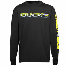 Oregon Ducks Chrome Logo Long Sleeve T-Shirt - Black - NCAA