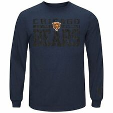 Chicago Bears Majestic Victory Pride Long Sleeve T-Shirt - Navy Blue - NFL