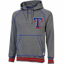 Texas Rangers Stitches Brush Pullover Hoodie - Gray - MLB