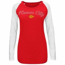 Kansas City Chiefs Majestic Womens Coin Toss IV Long Sleeve T-Shirt - Red - NFL