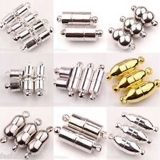 Wholesale Golden/Silver/White K Magnetic Clasps Jewelry Finding Connectors 6/8mm