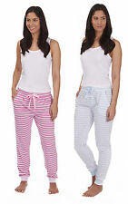 Womens Striped Lounge Bottoms Ladies Pyjama Pants Sleep Trousers New Size 8-22