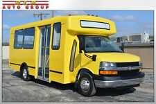 2009 Express 3500 Champion 15 Passenger Raised Roof CNG Fuel Shuttle Bus