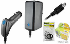 New Battery Car + Wall Home Travel Charger Combo for Samsung Cell Phones (CA)