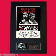 Manny Pacquiao & Floyd Mayweather  Autograph Mounted Signed Photo PRINT A4 563