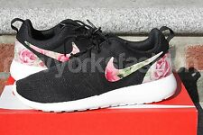 SPECIAL SALE New Nike Roshe Run Custom Black Rose Garden Floral Women Sizes 8-10