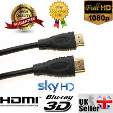 HDMI Cable v1.4 1.8m/3m PREMIUM HD High Speed Ethernet Gold 1080p 3D