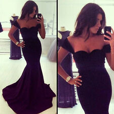 Sexy Women Long Prom Ball Cocktail Party Dress Formal Evening Gown UK Size 8-18