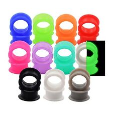 7 Pair Mix Color Silicon Ear Flesh Tunnel Plug Earskin Earlets Piercing Jewelry