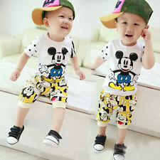 Children Clothing set Baby Boy Mickey Print Kids Outfit T-shirt + Pants 1-4years