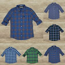 ABERCROMBIE KIDS BOYS PLAID SHIRTS LONG SLEEVE NEW SIZE: S, M, L, XL, 100%Cotton
