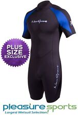 Mens NeoSport XSPAN Shorty Springsuit Wetsuit 3mm PLUS SIZE too 3XL 4XL 5XL 6XL