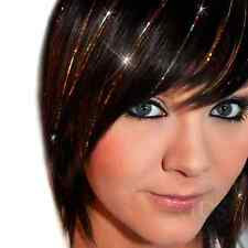 100 HAIR DAZZLE STRANDS - GOLD - RAINBOW - SILVER - HAIR EXTENSIONS