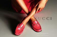 Gucci Women Shocking Pink Patent Leather Horsebit Flat Driver Loafers Shoes $560