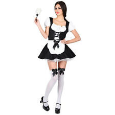 Ladies Flirty French Maid Costume for Sexy Fancy Dress Womens