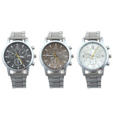 New Business Men Stainless Steel Watch Quartz Analog Watch Sport Hot Wrist Watch