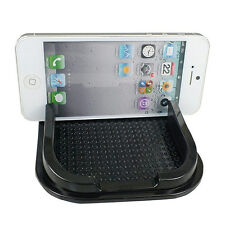 Black Car Anti Non Slip Pad Mat Skidproof Holder Stand For GPS Cell Phone iPhone