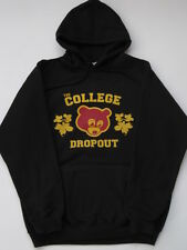 College Dropout Kanye West BLACK HOODIE Sweater Match Yeezy Yeezus Rap GOOD NEW
