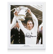 Jimmy Greaves hand signed large pic Lifting 1967 FA Cup for Spurs bid from £10