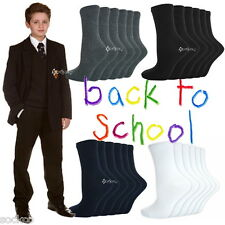 6 or 12 Pairs Boys Girls Ankle Socks School Uniform Shoe Sizes 6-8 9-12 12-3 4-5