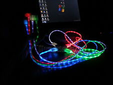 Shiny LED Light Data Sync Micro USB Charger Cable fit Samsung Galaxy Android New