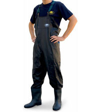 Lineaeffe PVC Chest Waders Black Size 6 7 8 9 10 11 12 Carp Fly Coarse Fishing