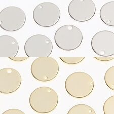 Round Metal Beads Pendants Connectors Charms Links Jewelry Making Supplies #125