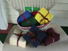 Flannel SOLID Fabric Squares for Rag Quilting select size quantity color $8-12