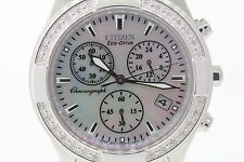 Ladies Citizen FB1220-53D Eco-Drive Regent Chronograph Stainless Steel Watch