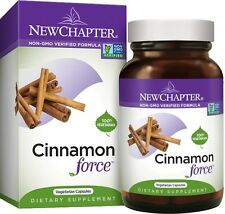 New Chapter CINNAMON FORCE - Blood Sugar Support  - 30, 60, & 120 Liquid VCaps