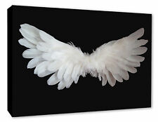 Angel Wings Wall Picture Black/White Wall Decor Canvas Print A1/A2/A3