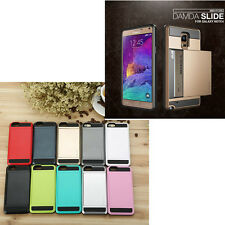 Card pocket ShockProof Slim Hybrid Wallet Case Cover for Samsung Galaxy Note 4