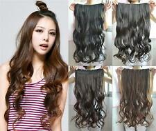"""Fashion 4 Colors  24"""" Long Women One Piece Clip in Curly Wavy Hair Extension"""