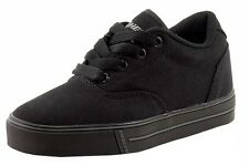 Heelys Boy's Launch Fashion Black/Black Canvas Skate Sneakers Shoes