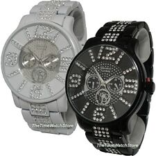 Rhinestone Hip-Hop Geneva Men's Watch GM39. Ships free in the USA!