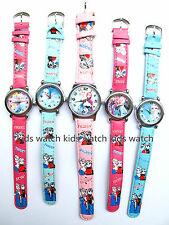 Lot  3color children lovely princess queen girl watch kids Watches gifts F-099