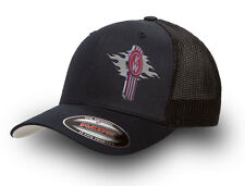 KENWORTH  FLEXFIT MESH TRUCKER CAP BLACK   KENWORTH TRUCKER CAP FLEXFIT  BLACK