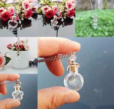 New Style Clear Glass Wishing Bottles Charms Empty Bottles Necklace Pendant