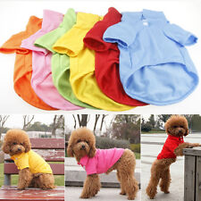 New Pet Puppy Summer Polo Shirt Small Dog Cat Clothes Costume Apparel T-Shirt