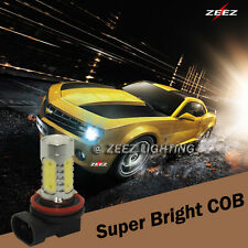 LED COB Fog Driving Replacement Light Bulb w/ Projector DRL Daytime Running Lamp
