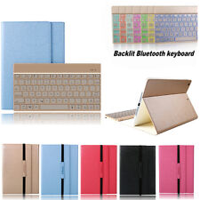 7 Color Backlit Bluetooth Keyboard Case For iPad Air 2 IPAD 6 Leather Cover Cas