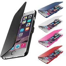 For Apple iPhone 4 5s 6 Plus Magnetic Flip Leather Hard Pouch Wallet Case Cover