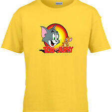 Kids Tom and Jerry Funny T-Shirt Cartoon That's All Folks