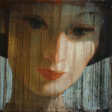 Ipalbus, Pojani Art, Woman Hat Modern Contemporary Signed, Original Oil Painting