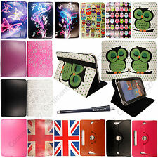 For Android Tablet PC New Universal 8 inch PU Leather Folio Case Cover+Stylus