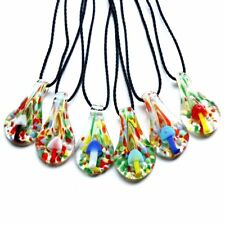 Cute Mushroom Nature Pendant Fit Lampwork Glass Necklace Charm Women Love Gifts